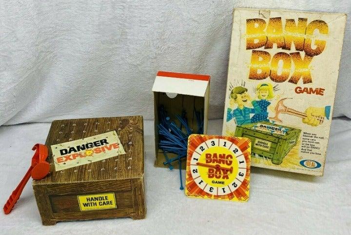 Vintage 1969 Ideal Bang Box Game W/ Box