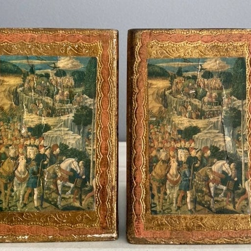 Wood Bookends Italian Florentine