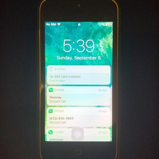 iPhone 5c Green 32GB bundle