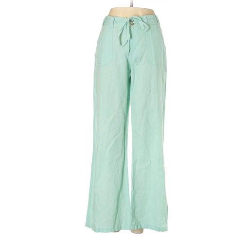 Cremieux Green Mint Linen Pants Size 14