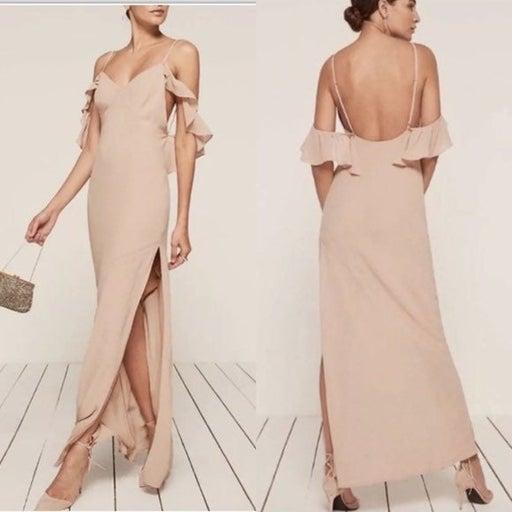Reformation Ferrara Bridesmaid Dress Champange NWT