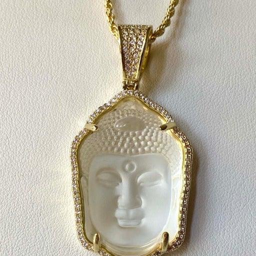 White Thai Buddha 14k Gold layered