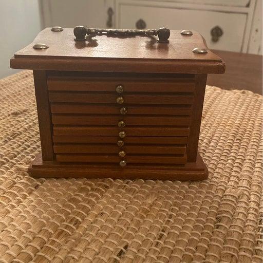Vintage 1970's Wooden coaster set