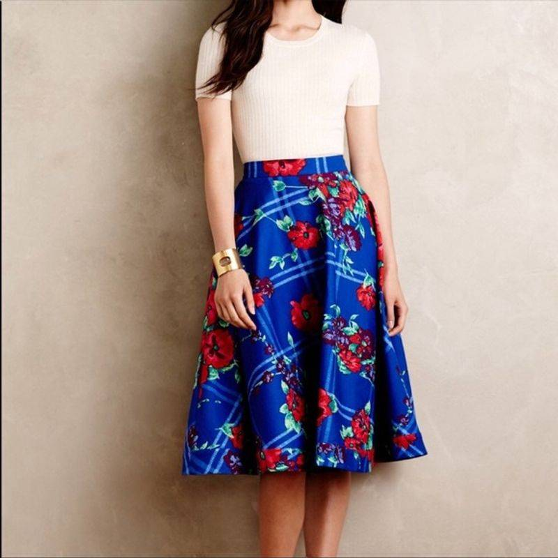 Plenty by Tracy Reese Floral Full Skirt