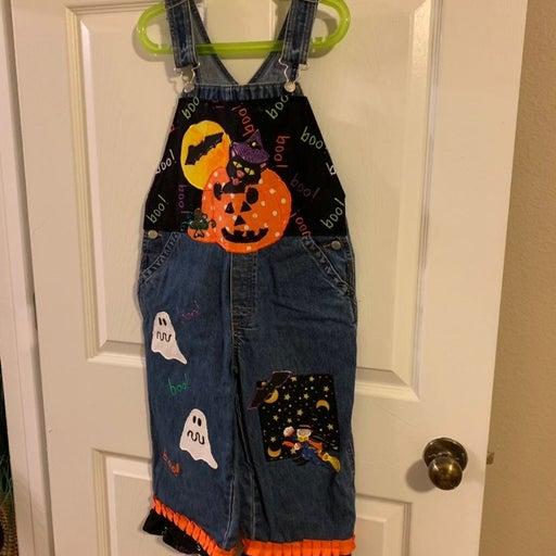 Etsy Custom Halloween Overalls Sz. 6
