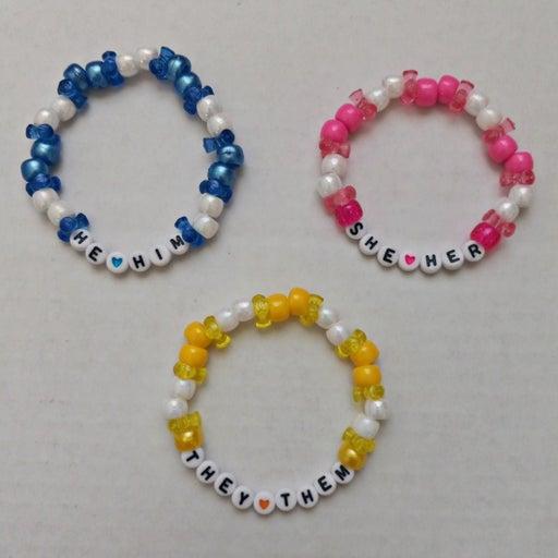 Pronoun Kandi Bracelet Set