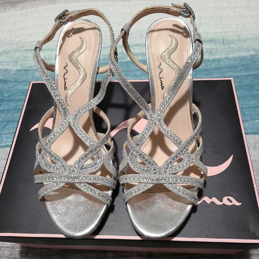 Silver Sparkle Heels