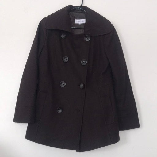 Women's Calvin Klein Brown Pea Coat 8