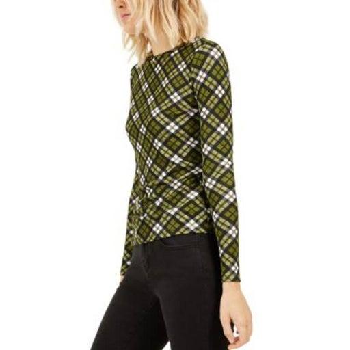 NWT MICHAEL KORS Women's Evergreen Printed Long-Sleeve Top Size XL
