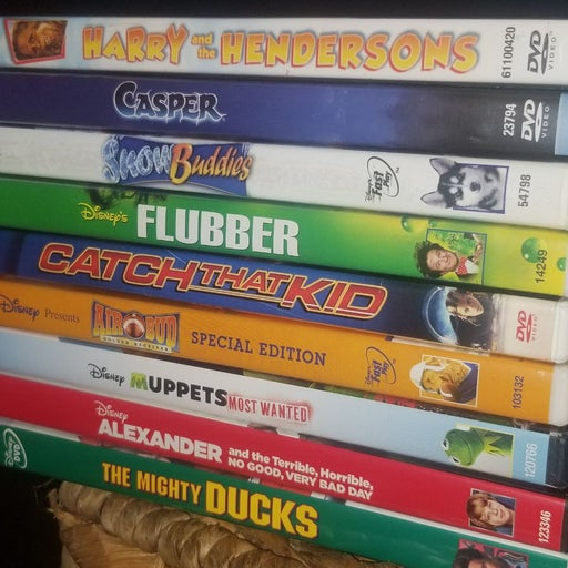 Lot of 9 KID'S DVD's...