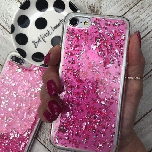 iPhone 7/8 Pink Glitter Bling Case