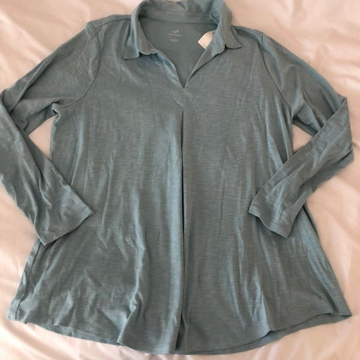 NWT LONG SLEEVE COTTON TOP