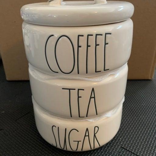 Rae Dunn Coffee Tea Sugar Stacker