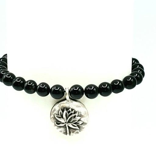 BLACK ONYX Gemstone Bracelet, Crustal Bracelet, Healing bracelet, Protection Bra