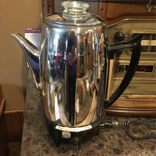 General Electric percolating coffee pot