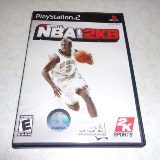 PLAYSTATION 2 NBA 2K8 (2007) VIDEO GAME WITH MANUAL