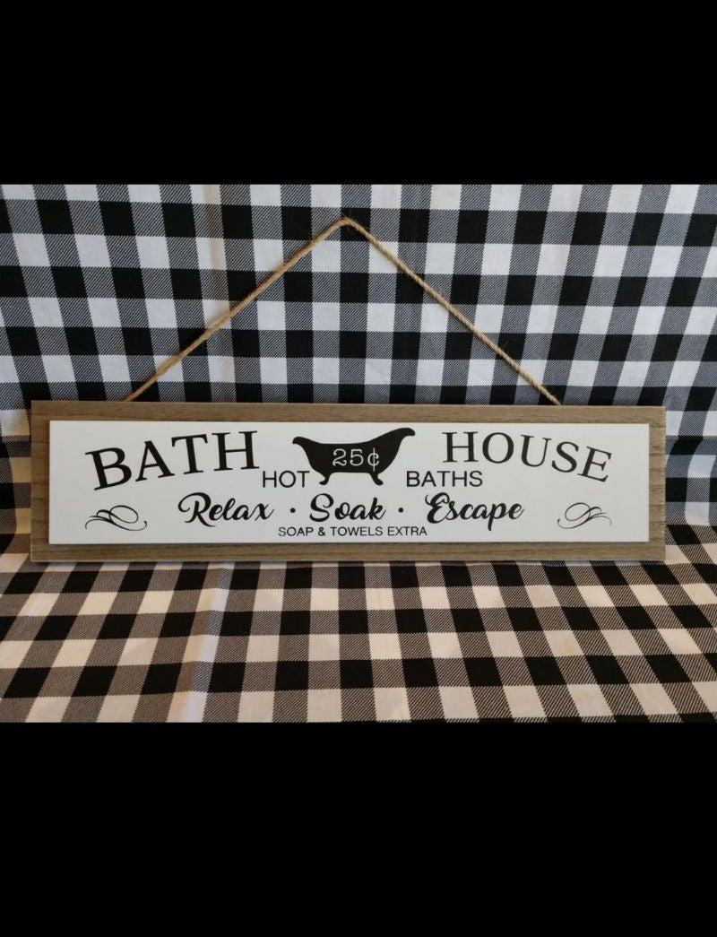 Rustic Farmhouse Bath Sign