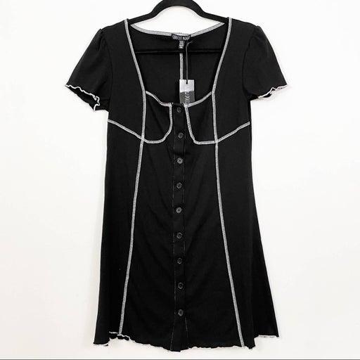 CURRENT MOOD Lettuce Hem Contrast Stitch Dress NWT Size XXL