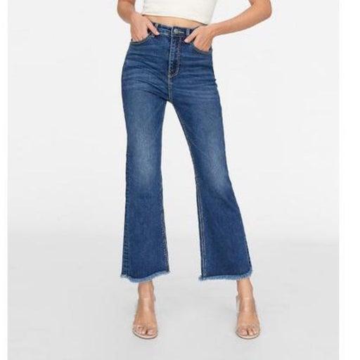 Polo Ralph Lauren Cropped Flare Distressed Hem Jeans SZ. 31