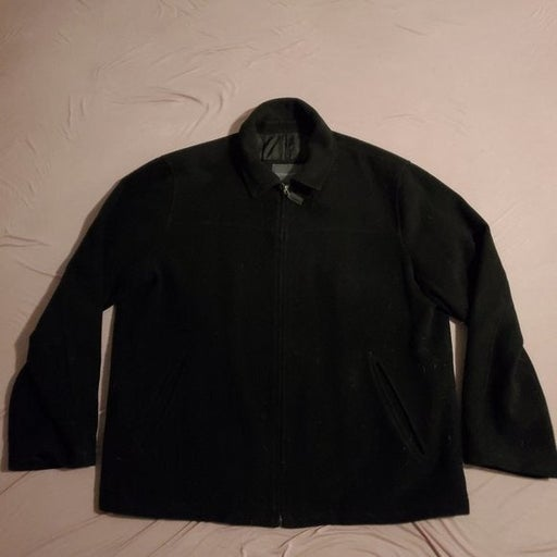 Covington Zip Front Wool Blend Bomber Insulated Winter Jacket Mens Large