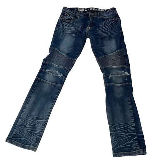 RAW X Men's jeans moto style distressed SZ 30X30