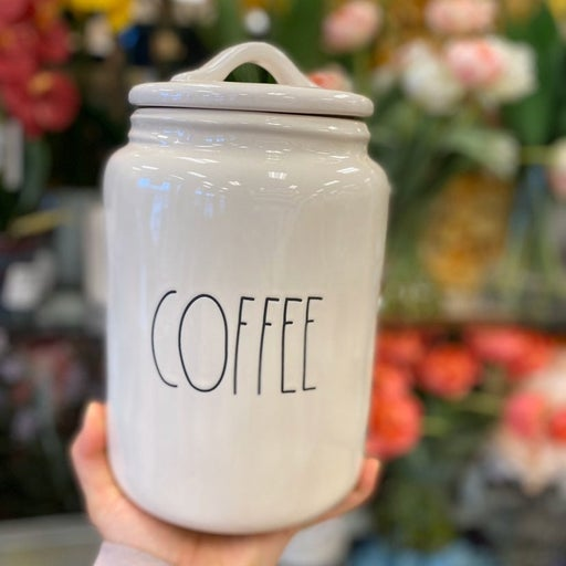 rae dunn coffee canister size XL