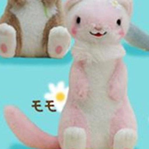 Gokigen Ferret 4'' Pink and White Plush