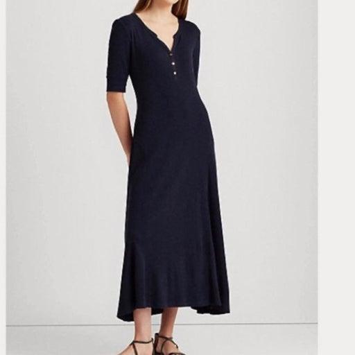 Lauren Ralph Lauren Cotton Thermal midi dress