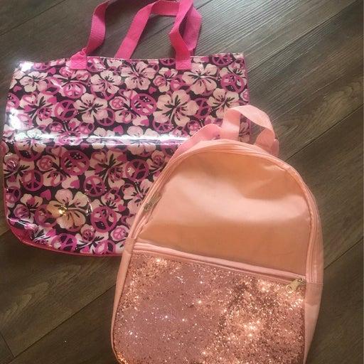 Kids bling backpack and beach bag.