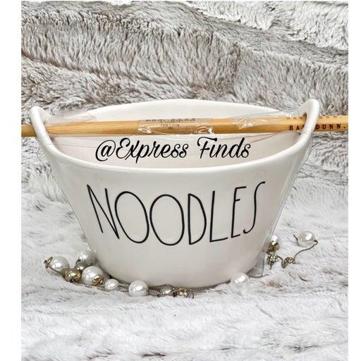 Rae Dunn Noodles Bowl With Chopsticks HTF