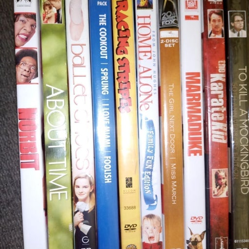 10 different DVD family movies