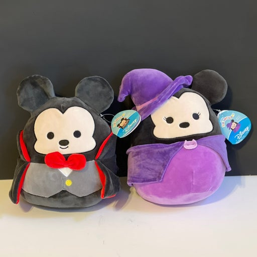 """Squishmallows 8"""" Halloween Mickey Mouse & Minnie Mouse"""
