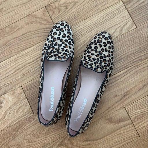 leopard print loafers paul stuart