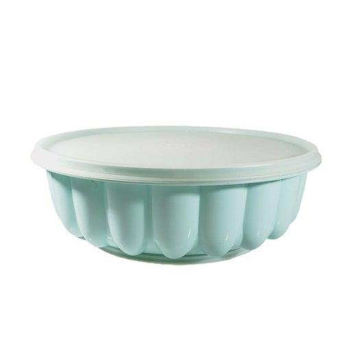 Tupperware 3 Piece Aqua Blue Jell-O Ring