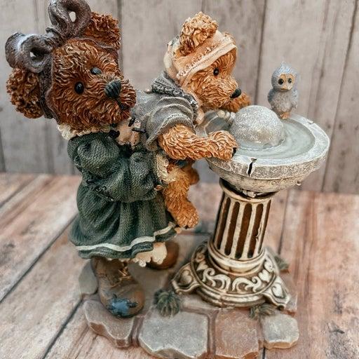 "Boyds Bears Bearstone 1999 Figurine ""Sissie&Squirt Big helper Lil Squirt"""