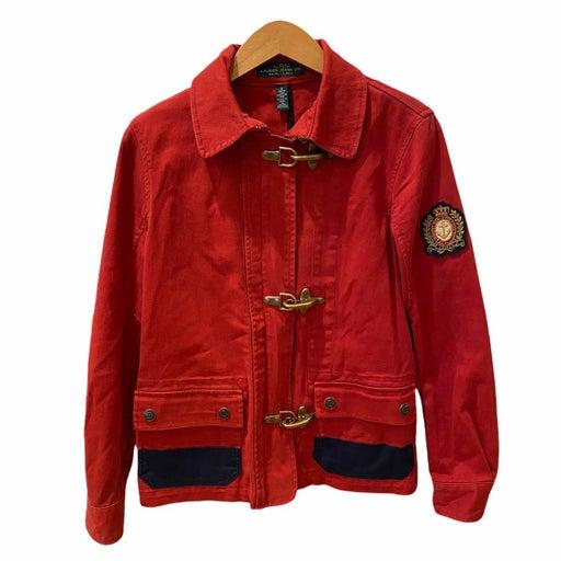Vintage Ralph Lauren Red Military Jacket Nautical S Denim