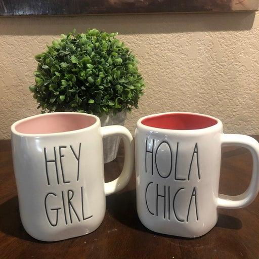 Rae Dunn Hey Girl and Hola Chica mug
