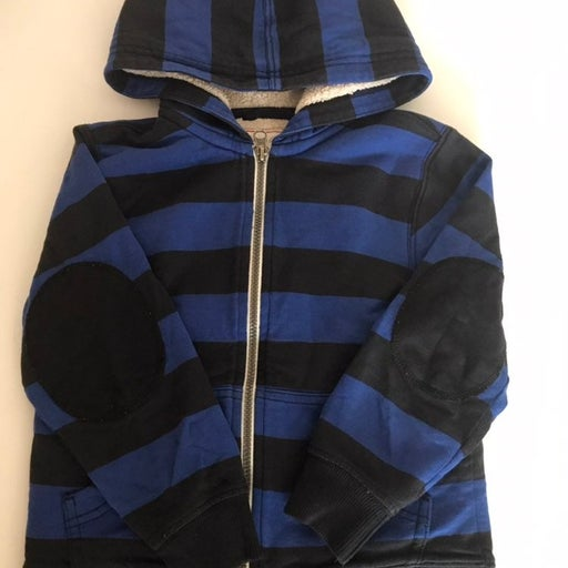 Hanna Andersson Striped Zipped Hoodie
