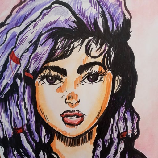 22x28 canvas Drawing of A Latina Girl