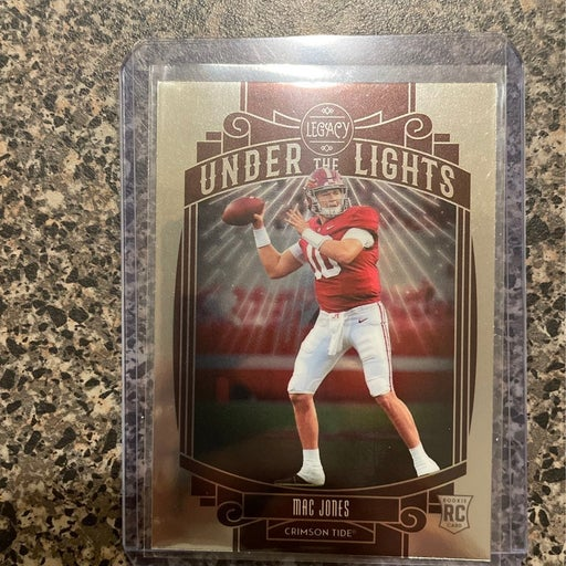 Mac jones under the lights rookie card