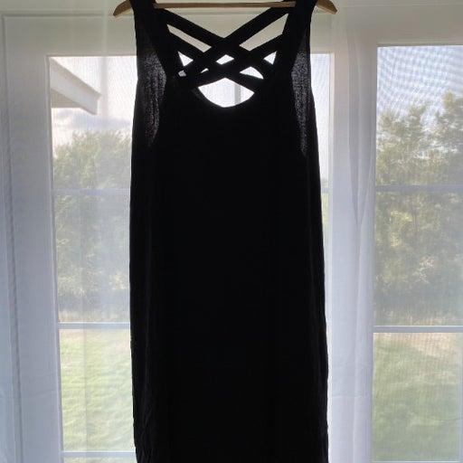Maurices Black Knit Dress Plus 2 coverup