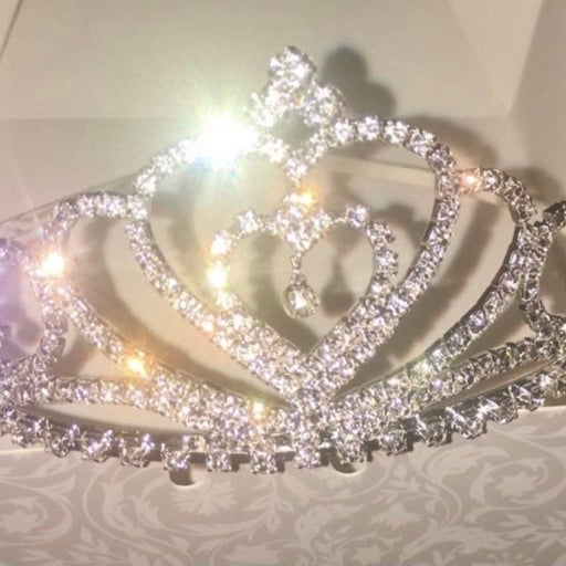 New! Pageant Crown Wedding Crystal Homecoming Queen Tiara