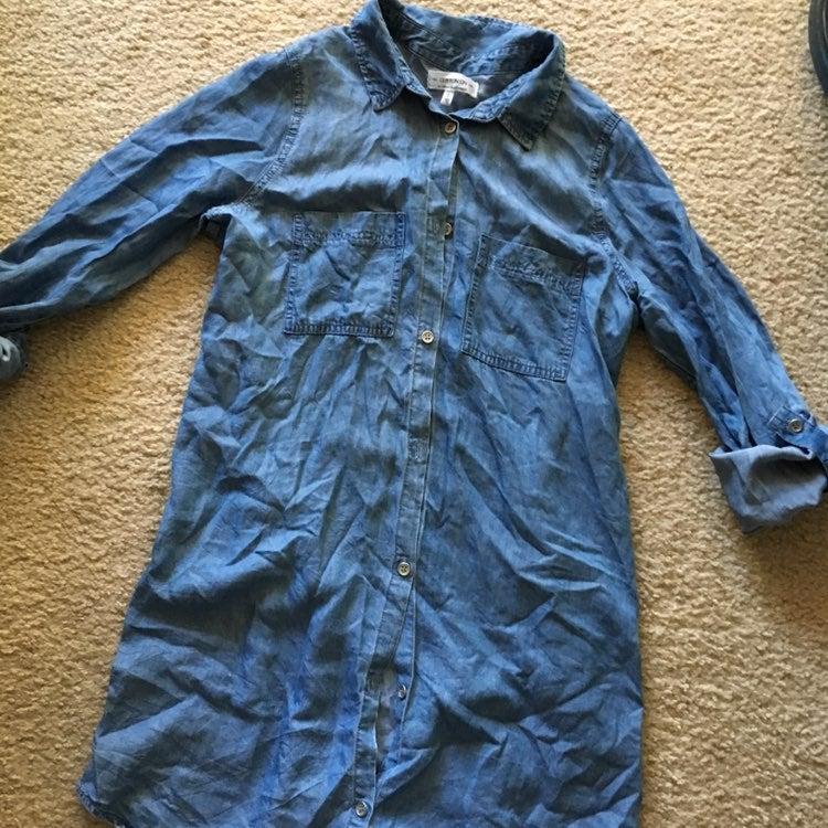 Cotton on denim button down shirt