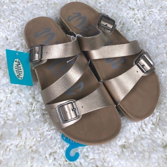 Women's NWT Multi Strap Footbed Sandals