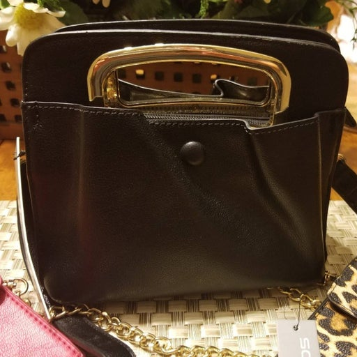 Small Black Cut Out Purse