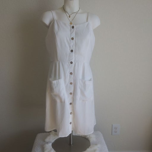 Naif Women's dress size L white with but