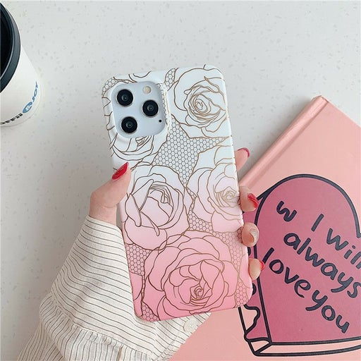 Iphone 12 Pro Max case Floral Rose
