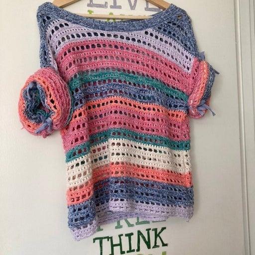 Beautiful and unique Knit Gap Top Size S cotton