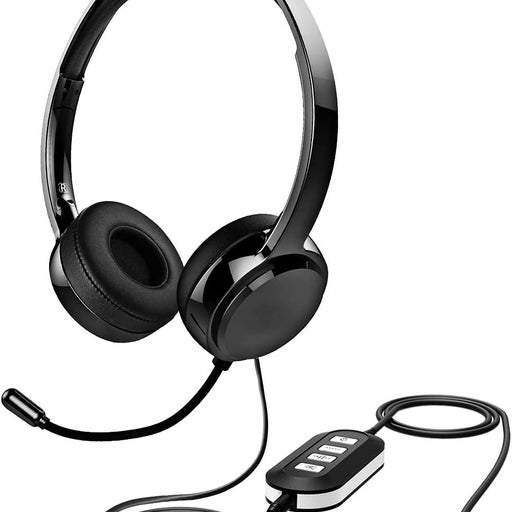 MPOW Wired Computer Headset W/ Remote &