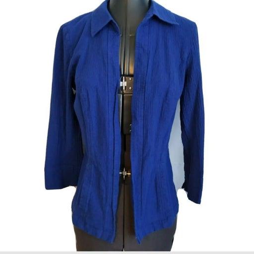 Chicos Jacket Blazer Sz 0 = 4 Royal Blue